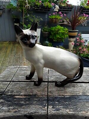 Vintage Royal Doulton Standing Siamese Cat  • 20£