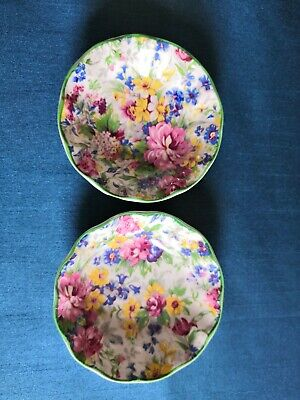 Pair Of Midwinter Burslem Porcelon Chintz Dishes. B 1942-47. • 10.50£