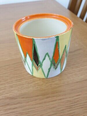 Clarice Cliff Geometric Bizarre Pot. Approx Height 3 Inch. • 30£