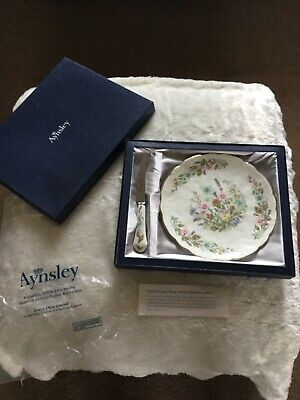 Aynsley Wild Tudor Plate And Cheese Knife Boxed • 6.50£