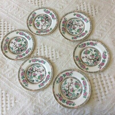 John Maddock Sons Royal Vitreous Indian Tree Tea Plates (6) • 6£