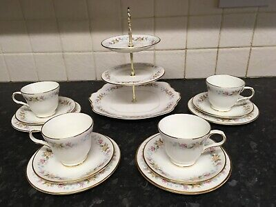 Vintage Sovereign China Afternoon Tea Set And Cake Stand • 25£