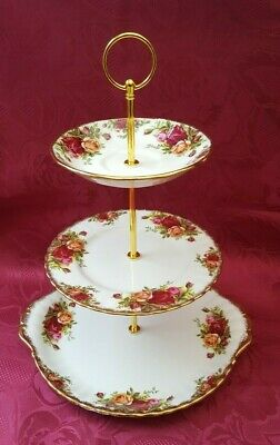 Royal Albert  Old Country Roses   Cake Stand  Tea For Two???  • 13.99£