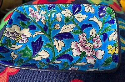 Antique Early Longwy Rectangular Dish Floral Design  • 40£