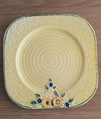 Vintage Crown Devon 1940's Yellow Plate, Small Chip Made In England • 8.50£