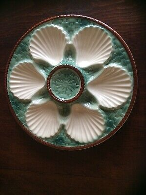 Vintage French Longchamp Majolica Oyster Plate ( 8 More Available). • 12.99£
