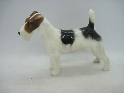 Royal Doulton Dog Figure Wire Rough Haired Fox Terrier Crackley Starter HN1019 • 29.99£