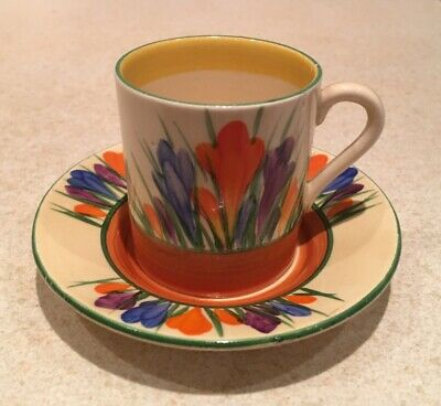 Clarice Cliff Crocus Coffee Cup And Saucer • 125£