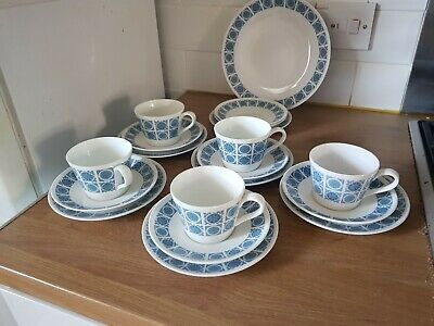Wedgwood Royal Tuscan Charade 5x Trios,  9.2  Plate And 3 Spares • 24.95£