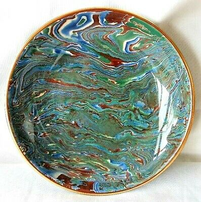 "Vintage Ltd Edition 27/100 Signed Jersey Bouchet Agateware 6"" Plate / Dish • 24.99£"