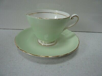 Tuscan Tea Cup & Saucer Pale Green Fine English Bone China - Choose From • 14£