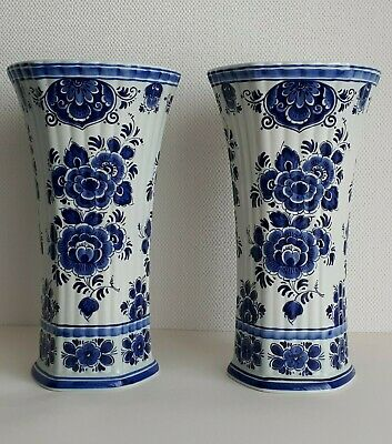 ROYAL DELFT - Trumpet Vase 11.8 Inches - HAND PAINTED • 45.06£
