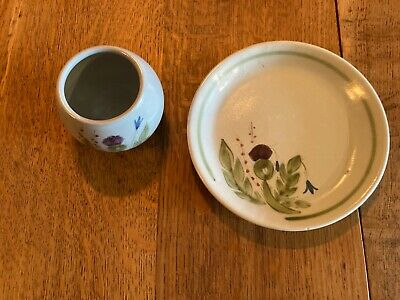 Buchan Thistle Plate And Bowl Perthshire Pottery • 7.50£