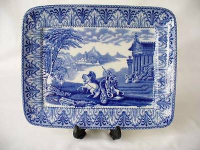 Antique  Small Flow Blue Tray - Cauldon England - Chariot Pattern • 49.99£
