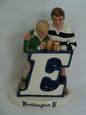 Beswick Worthington E Bitter Advertising Rugby Players Ceramic Figure • 45£