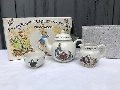 Vintage Boxed Wedgwood Peter Rabbit Child's Tea Set Beatrix Potter • 24.99£