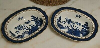 A PAIR Of Vintage BOOTHS REAL OLD WILLOW Serving Bowls • 29.99£