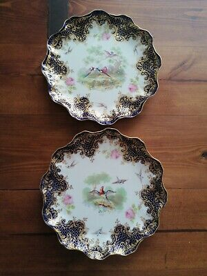 Stunning Pair Of Antique 19thc Royal Doulton Hand Painted Cabinet Plates  • 43£