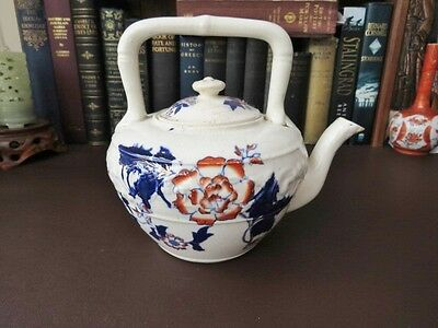 Antique 18th/19th C   Flow Blue Teapot • 39.99£