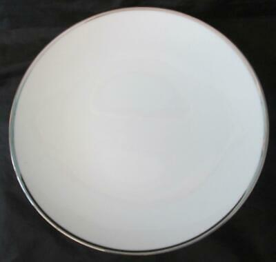 Two (2)  Thomas By Rosenthal Medallion Silver/Platinum Thick Band Dinner Plates • 24.99£