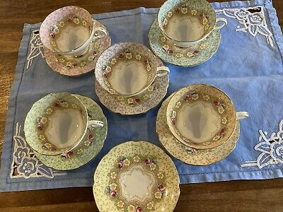 Paragon 1930s Damask Rose Royal Appointment Tea Set • 47£