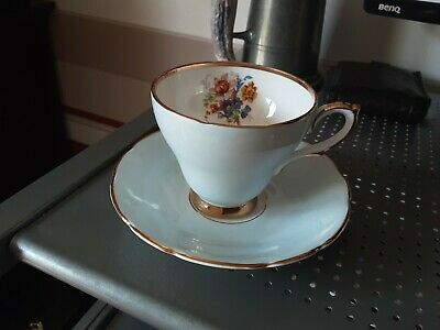 Vintage Fine Bone China Cut And Saucer By Sutherland • 3.99£