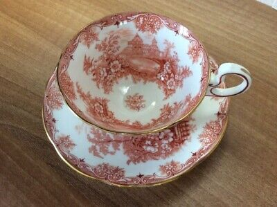 Vintage Aynsley Rare Colour Queens Garden Cup With Saucer. • 10£
