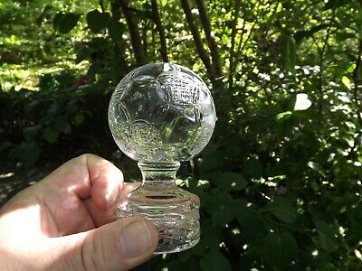 Tyrone Crystal Football On Stand Shaped Paperweight  Fine Cut Fully Stamped • 24.99£