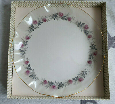 Chance Glass Royal Bride Vintage Gilt Edged Fluted Plate Dish Roses Cottagecore  • 15£