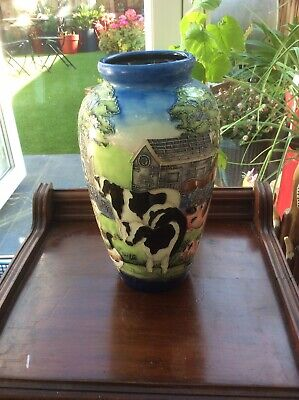 """Beautiful Old Tupton Ware Farmyard Design Large Vase, 11""""/28cm Excellent Co. • 38.60£"""