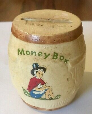 Vintage Manor Ware Beer Barrel Shaped Mini Money Box • 12£