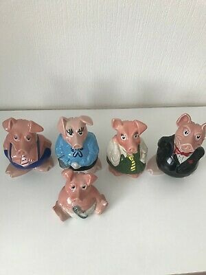 Nat West Pigs - Complete Set With Stoppers    COLLECTION ONLY  • 60£