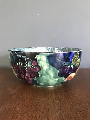 Exquisite S. Hancock & Sons Titian Ware Bowl. Signed F X Abraham. Circa.1920 • 35£