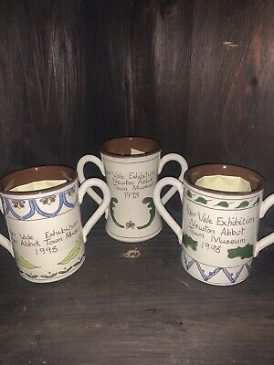 Set Of Three Cyril Wilson 1998 Aller Vale Exhibition Loving Cups • 25£