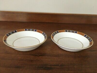 2 Wedgwood Tapestry Fruit/dessert (sauce) Dish, Red, Blue And Gold - 5   • 15£