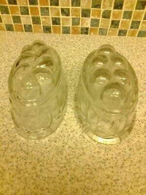 Vintage Pressed Glass Jelly Moulds X 2 • 5.99£