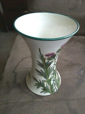 Rare Wemyss Ware 6 Inch Waisted Vase Thistle Pattern Early 1900's • 99£