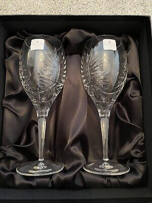 Royal Doulton Keswick Fine Lead Crystal Goblets - 290 Ml - Boxed • 29.99£