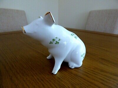 Royal Tara Irish Fine Bone China Shamrock Pig • 17£