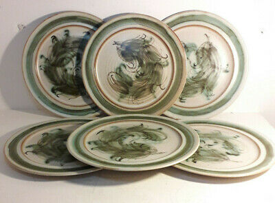 Skegness Pottery 70's Vintage 6×81/2  Dinner Plates. Beautiful Solid. • 30£