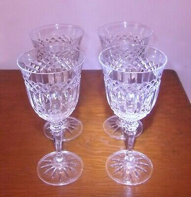 4 X Galway Crystal 'Clara' Wine Glasses, Approx. 7  Tall. • 38£