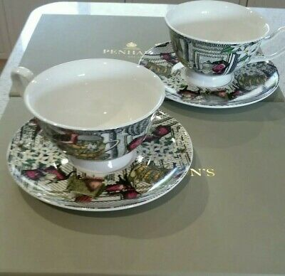 2x Penhaligons Portraits Tea Cup & Saucer Limited Edition IN BOXES  • 50£