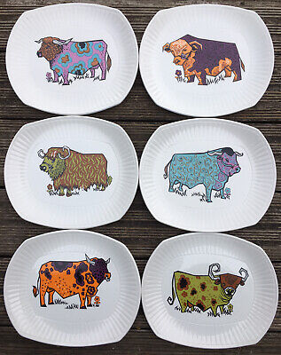 Retro Beefeater Ironstone Steak Plates • 28.30£