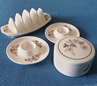 M & S *autumn Leaves* Two Melamine Egg Cups/toast Rack And Coaster Set#excellent • 16.95£