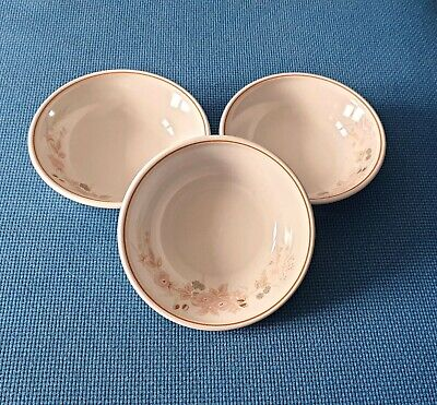 Boots *hedge Rose* Three 6.9  Dessert Bowls   #excellent Unused Condition# • 17.50£
