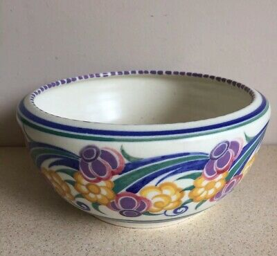 Poole Pottery Large 1930's Bowl. • 35£
