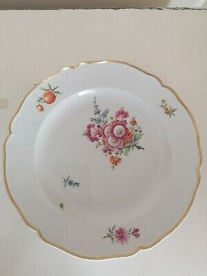 Superb Early Dresden Antique Hand Painted Cabinet Plate  • 75£