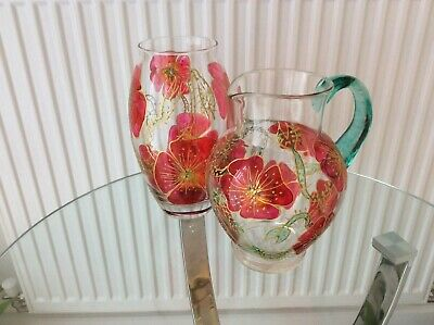Two Hand Painted Vases • 7£