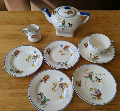 Vintage Joey The Clown And Poor Bunny Bobtail (1930) Children's Teaset • 25£