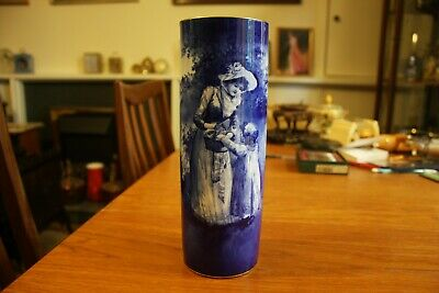 Antique Royal Doulton Blue Children Cylinder Vase A/F • 59.95£